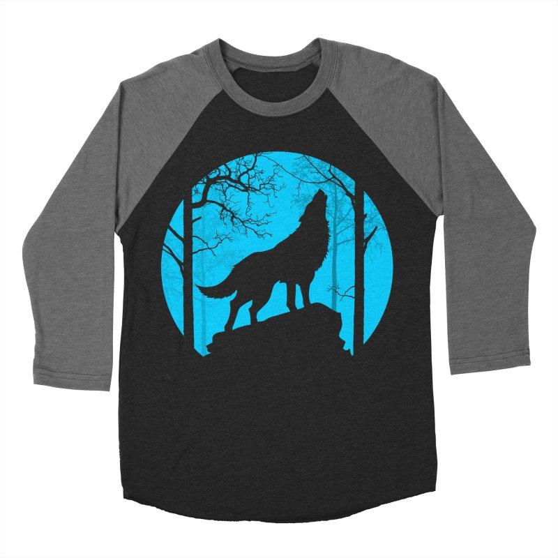 Midnight Howler Women's Baseball Triblend T-Shirt by Oblivion Design's Artist Shop