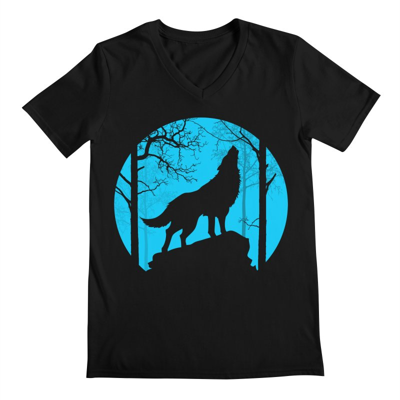 Midnight Howler Men's V-Neck by Oblivion Design's Artist Shop