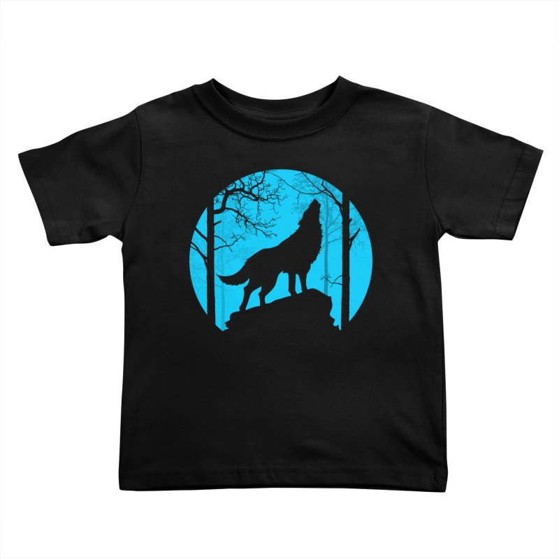 Midnight Howler Kids Toddler T-Shirt by Oblivion Design's Artist Shop