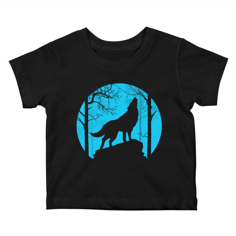 Midnight Howler Kids Baby T-Shirt by Oblivion Design's Artist Shop