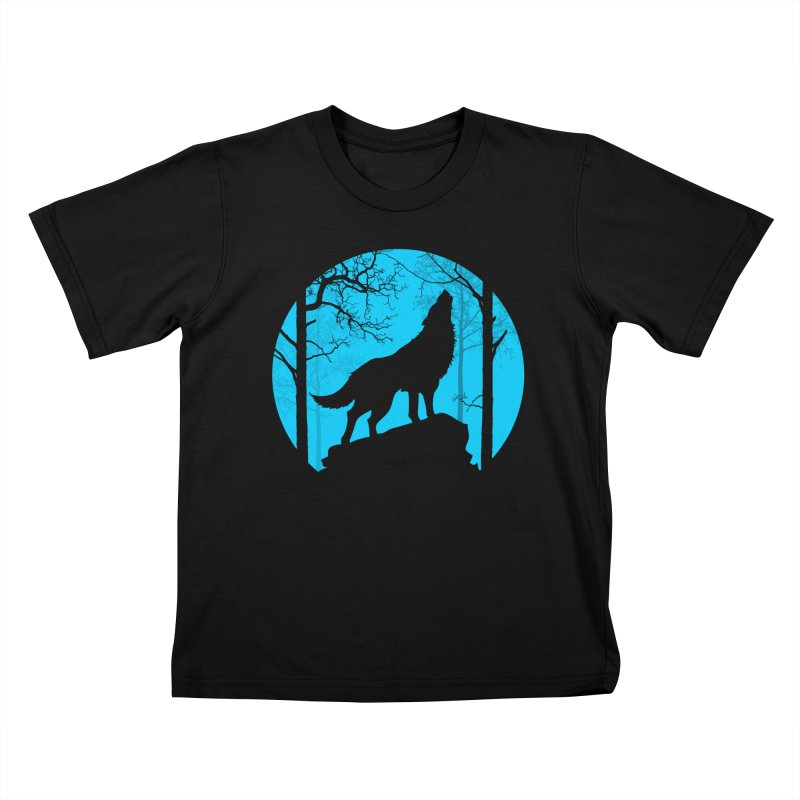 Midnight Howler Kids T-shirt by Oblivion Design's Artist Shop
