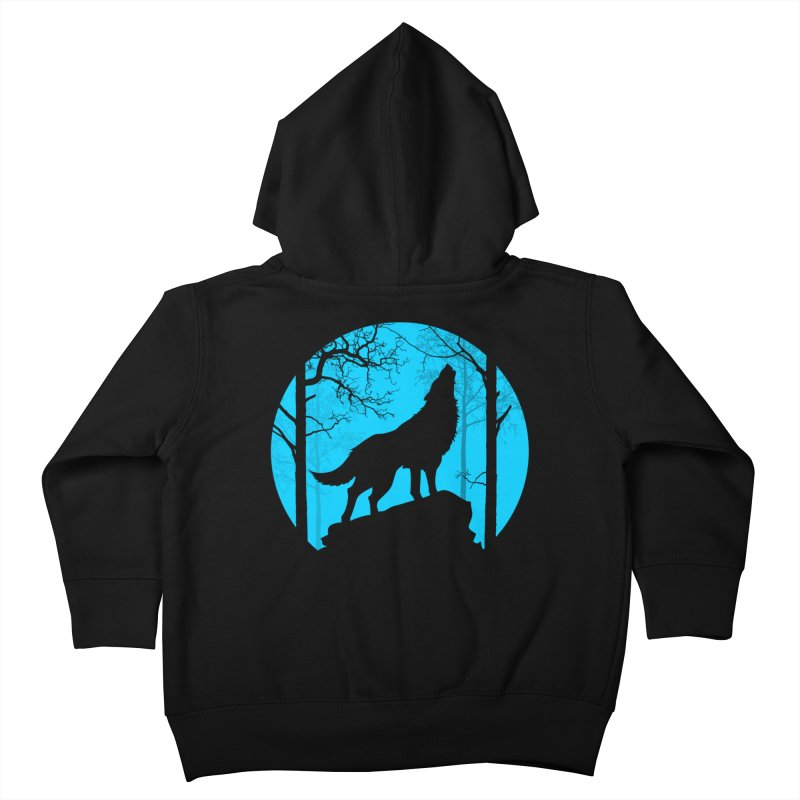 Midnight Howler Kids Toddler Zip-Up Hoody by Oblivion Design's Artist Shop