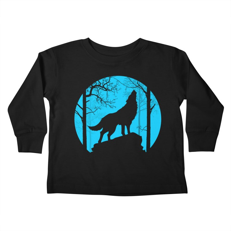 Midnight Howler Kids Toddler Longsleeve T-Shirt by Oblivion Design's Artist Shop