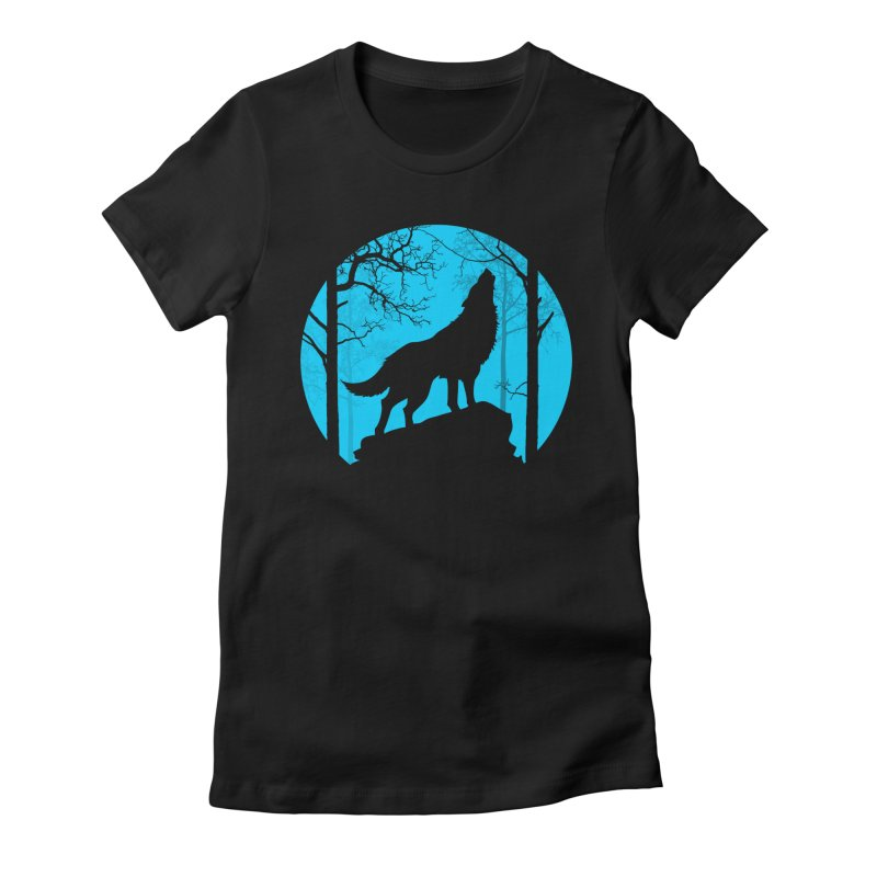 Midnight Howler Women's Fitted T-Shirt by Oblivion Design's Artist Shop