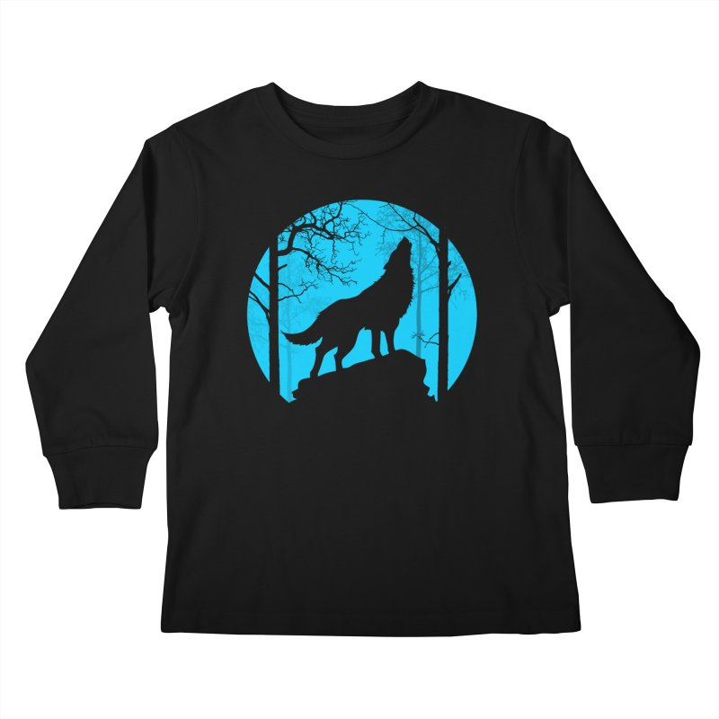 Midnight Howler Kids Longsleeve T-Shirt by Oblivion Design's Artist Shop
