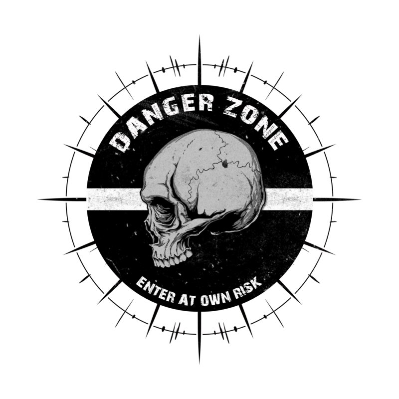 Danger Zone (white) None  by Oblivion Design's Artist Shop