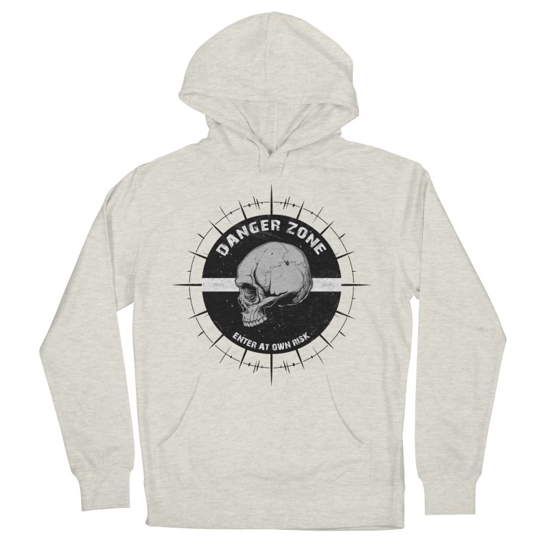 Danger Zone (white) Women's French Terry Pullover Hoody by Oblivion Design's Artist Shop