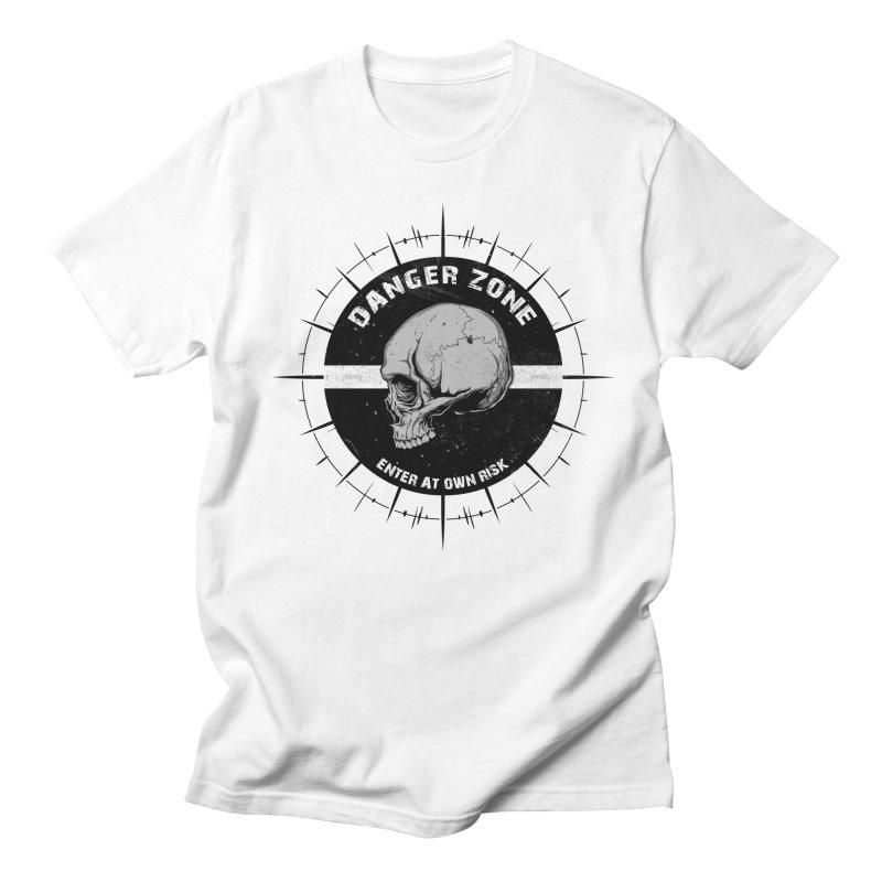 Danger Zone (white) Men's T-Shirt by Oblivion Design's Artist Shop
