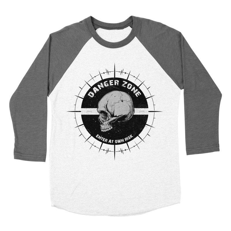 Danger Zone (white) Men's Baseball Triblend T-Shirt by Oblivion Design's Artist Shop