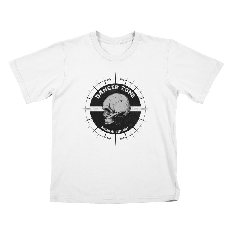 Danger Zone (white) Kids T-Shirt by Oblivion Design's Artist Shop