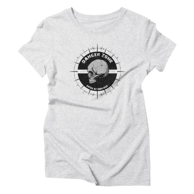 Danger Zone (white) Women's Triblend T-shirt by Oblivion Design's Artist Shop