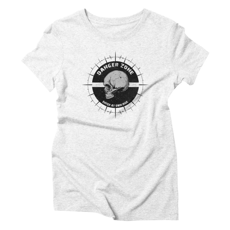 Danger Zone (white) Women's Triblend T-shirt by Oblivion Design's Artist Shop