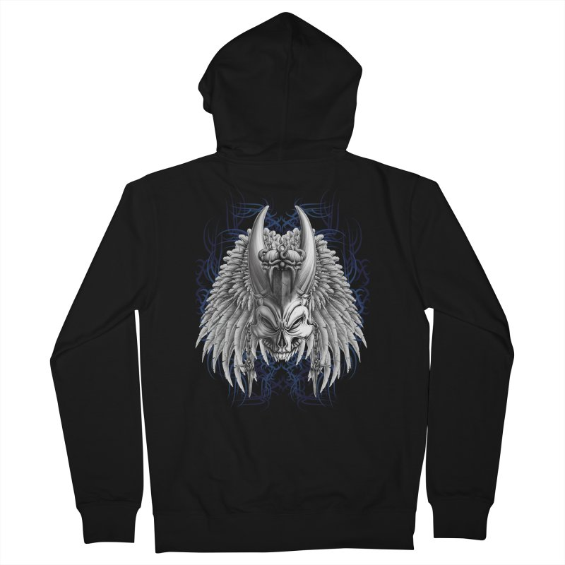 Tribal Indian Skull Men's Zip-Up Hoody by Oblivion Design's Artist Shop
