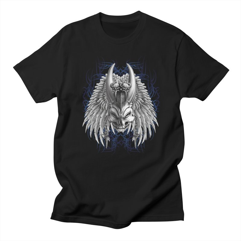 Tribal Indian Skull Men's T-Shirt by Oblivion Design's Artist Shop