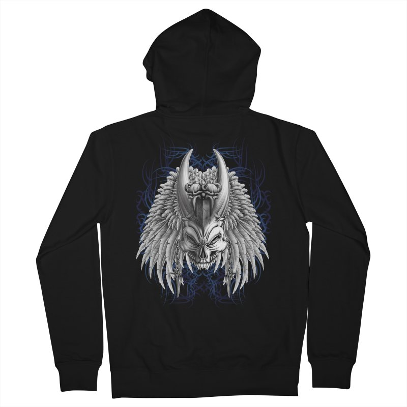 Tribal Indian Skull Women's Zip-Up Hoody by Oblivion Design's Artist Shop