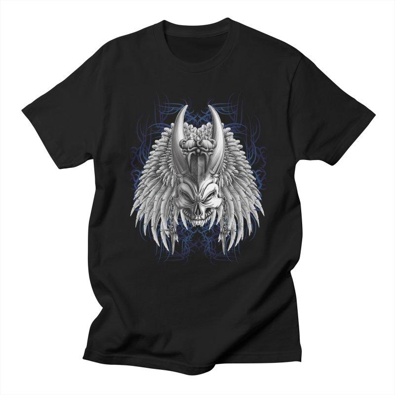 Tribal Indian Skull Men's T-Shirt by Oblivion Design's Artist Shop