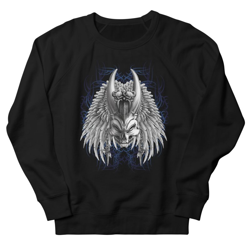 Tribal Indian Skull Men's Sweatshirt by Oblivion Design's Artist Shop