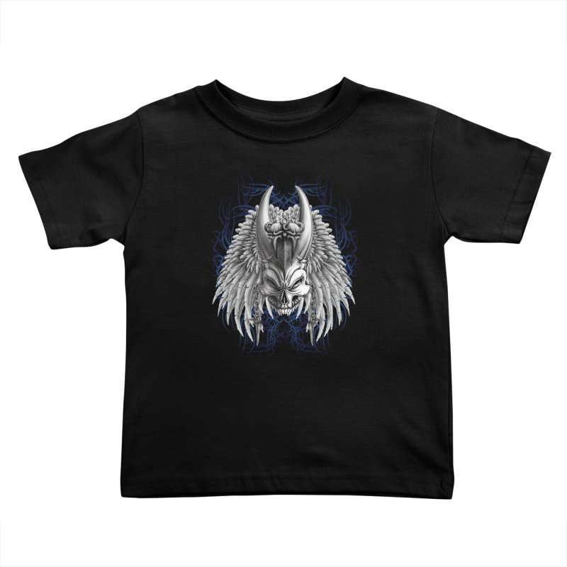 Tribal Indian Skull Kids Toddler T-Shirt by Oblivion Design's Artist Shop