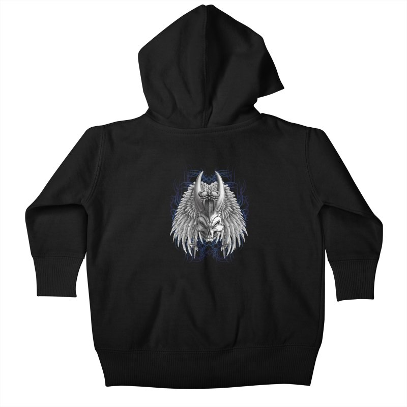 Tribal Indian Skull Kids Baby Zip-Up Hoody by Oblivion Design's Artist Shop