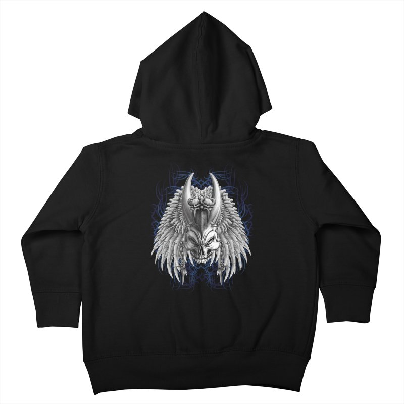 Tribal Indian Skull Kids Toddler Zip-Up Hoody by Oblivion Design's Artist Shop