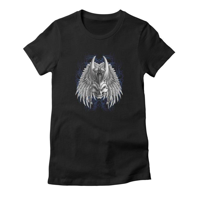 Tribal Indian Skull Women's T-Shirt by Oblivion Design's Artist Shop
