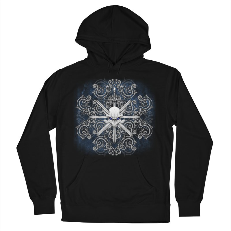 Tribal Skull Swords Women's French Terry Pullover Hoody by Oblivion Design's Artist Shop