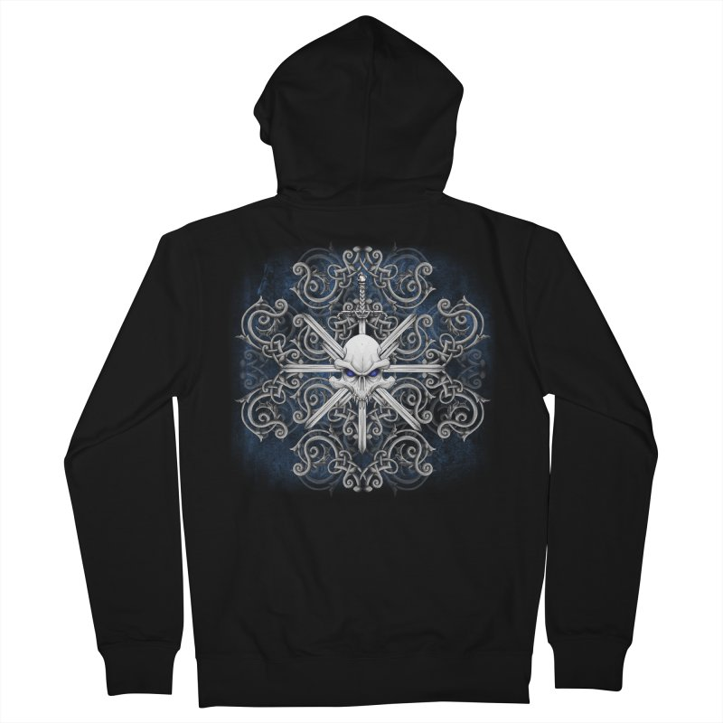Tribal Skull Swords Men's Zip-Up Hoody by Oblivion Design's Artist Shop
