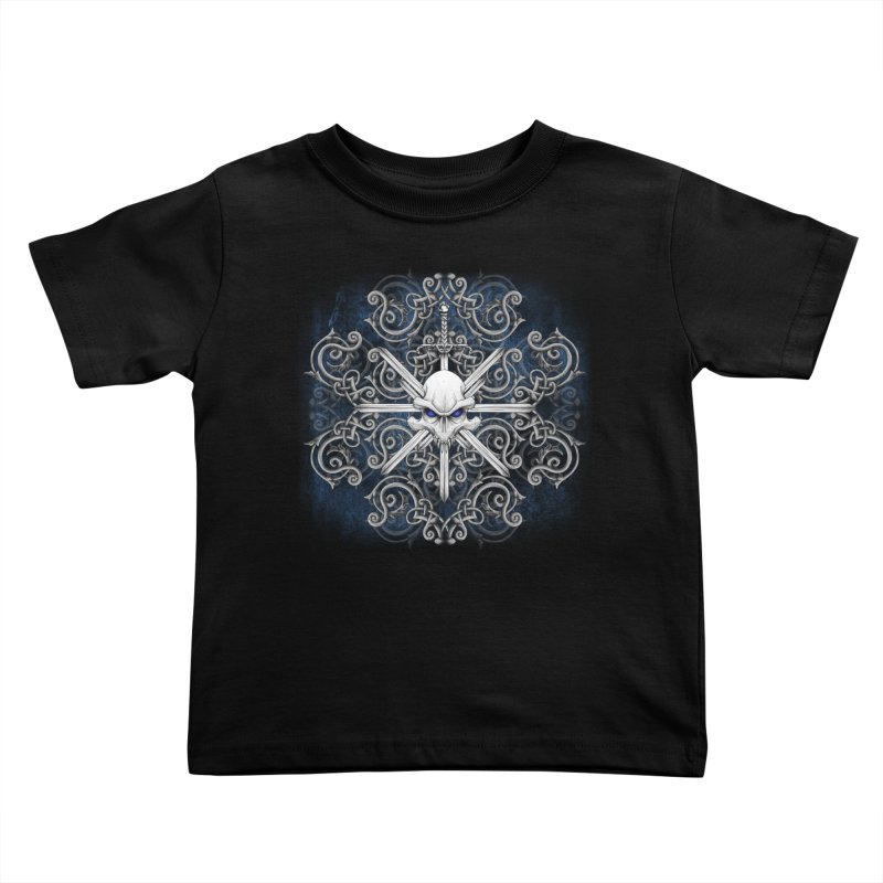 Tribal Skull Swords Kids Toddler T-Shirt by Oblivion Design's Artist Shop