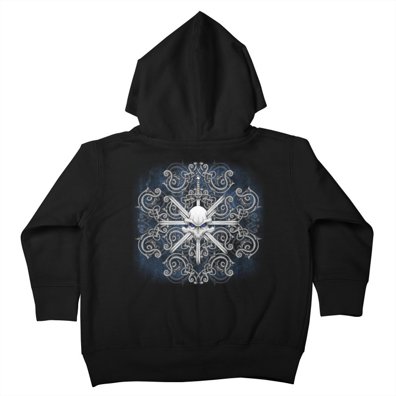 Tribal Skull Swords Kids Toddler Zip-Up Hoody by Oblivion Design's Artist Shop