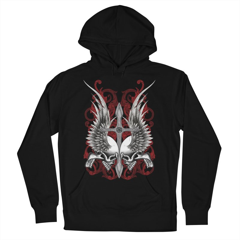 Screaming Skulls Women's French Terry Pullover Hoody by Oblivion Design's Artist Shop
