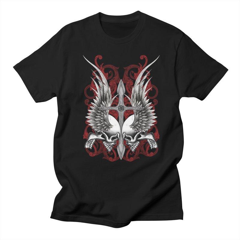 Screaming Skulls Men's T-Shirt by Oblivion Design's Artist Shop