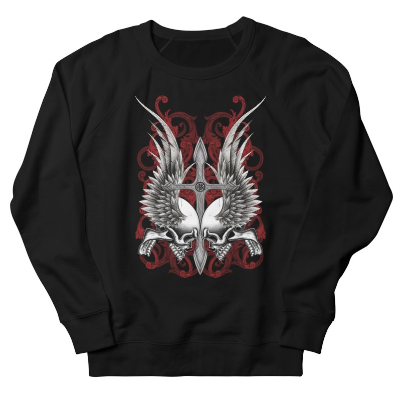 Screaming Skulls Men's French Terry Sweatshirt by Oblivion Design's Artist Shop