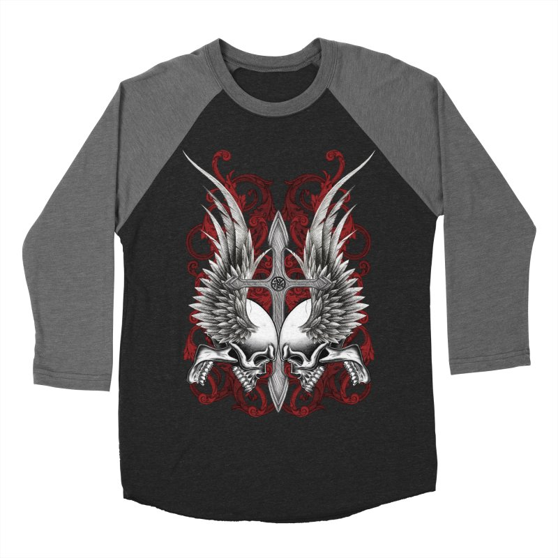 Screaming Skulls Women's Baseball Triblend Longsleeve T-Shirt by Oblivion Design's Artist Shop