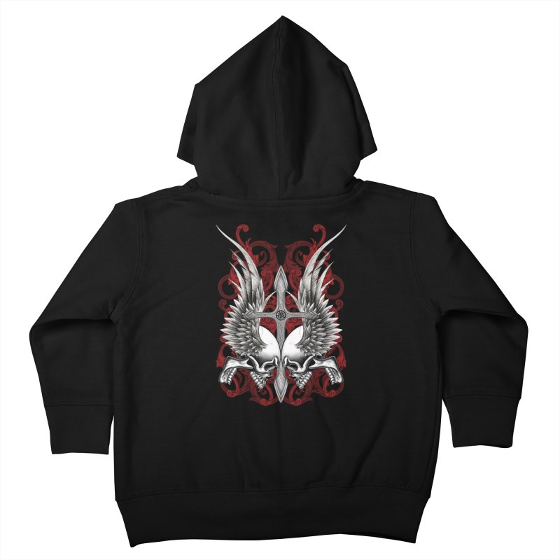 Screaming Skulls Kids Toddler Zip-Up Hoody by Oblivion Design's Artist Shop