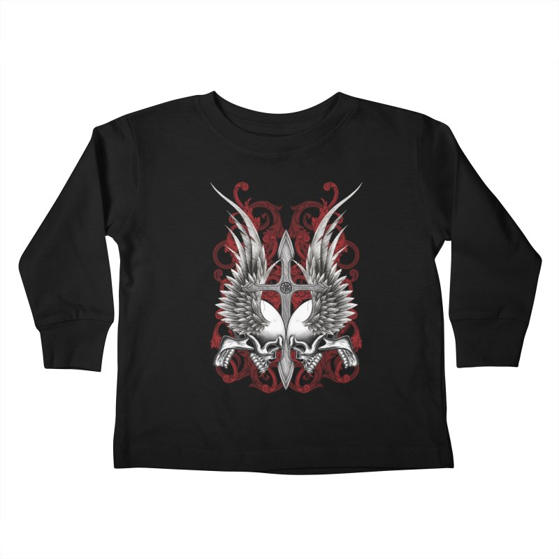 Screaming Skulls Kids Toddler Longsleeve T-Shirt by Oblivion Design's Artist Shop