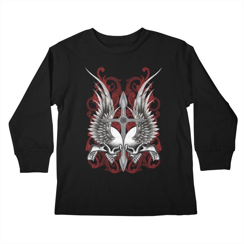 Screaming Skulls Kids Longsleeve T-Shirt by Oblivion Design's Artist Shop