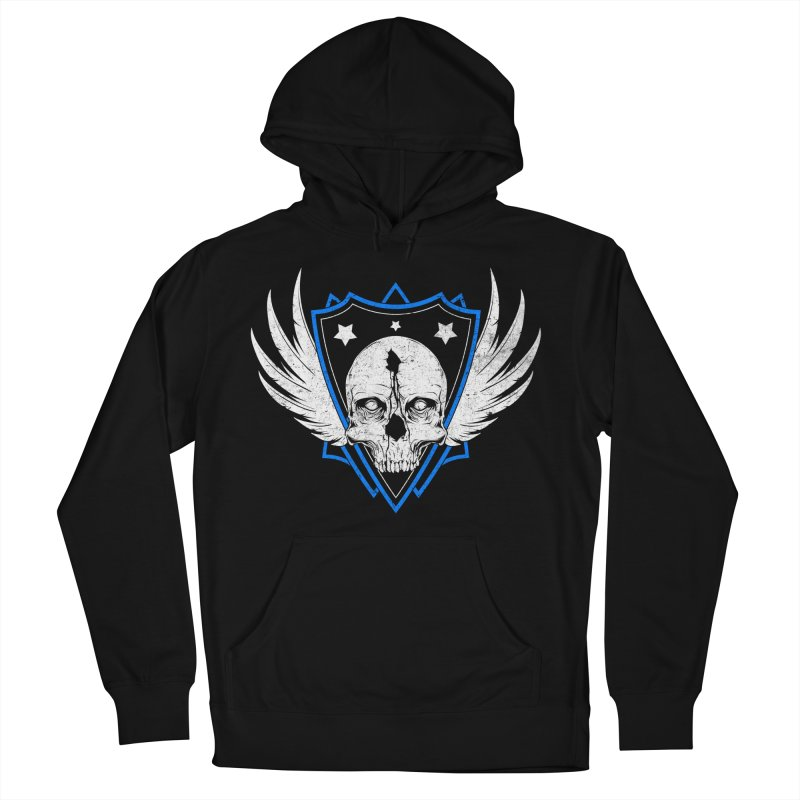 Shield Skull Women's French Terry Pullover Hoody by Oblivion Design's Artist Shop