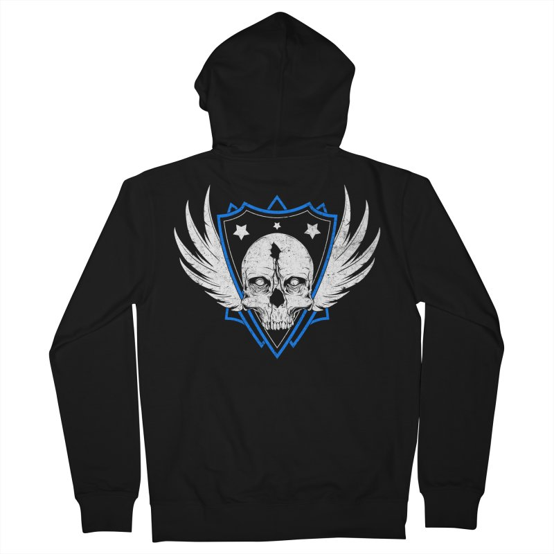 Shield Skull Men's Zip-Up Hoody by Oblivion Design's Artist Shop