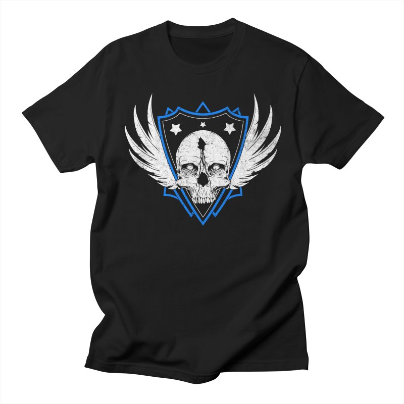 Shield Skull Men's T-Shirt by Oblivion Design's Artist Shop