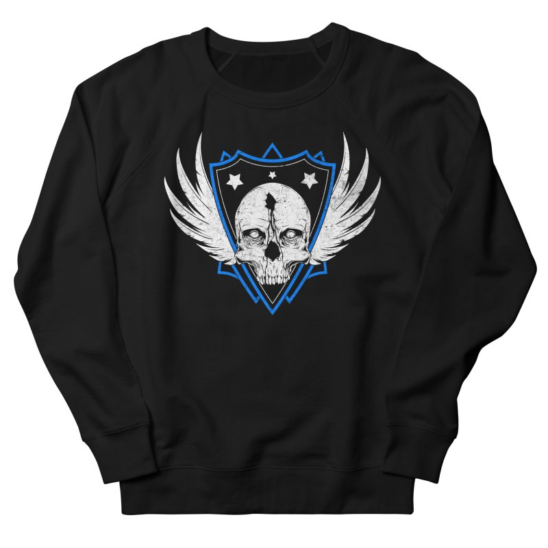 Shield Skull Men's French Terry Sweatshirt by Oblivion Design's Artist Shop