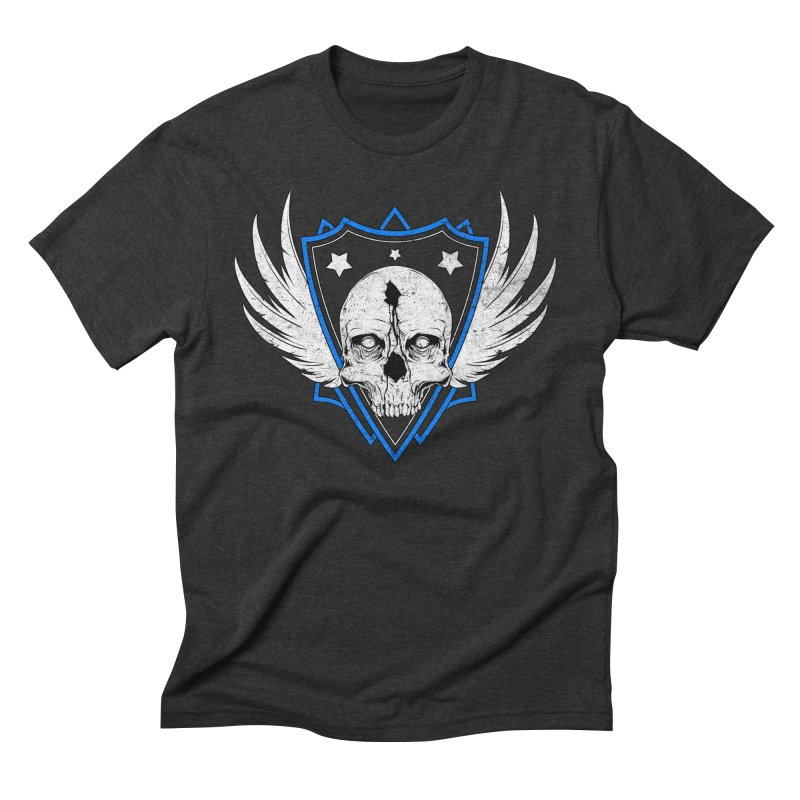Shield Skull Men's Triblend T-shirt by Oblivion Design's Artist Shop