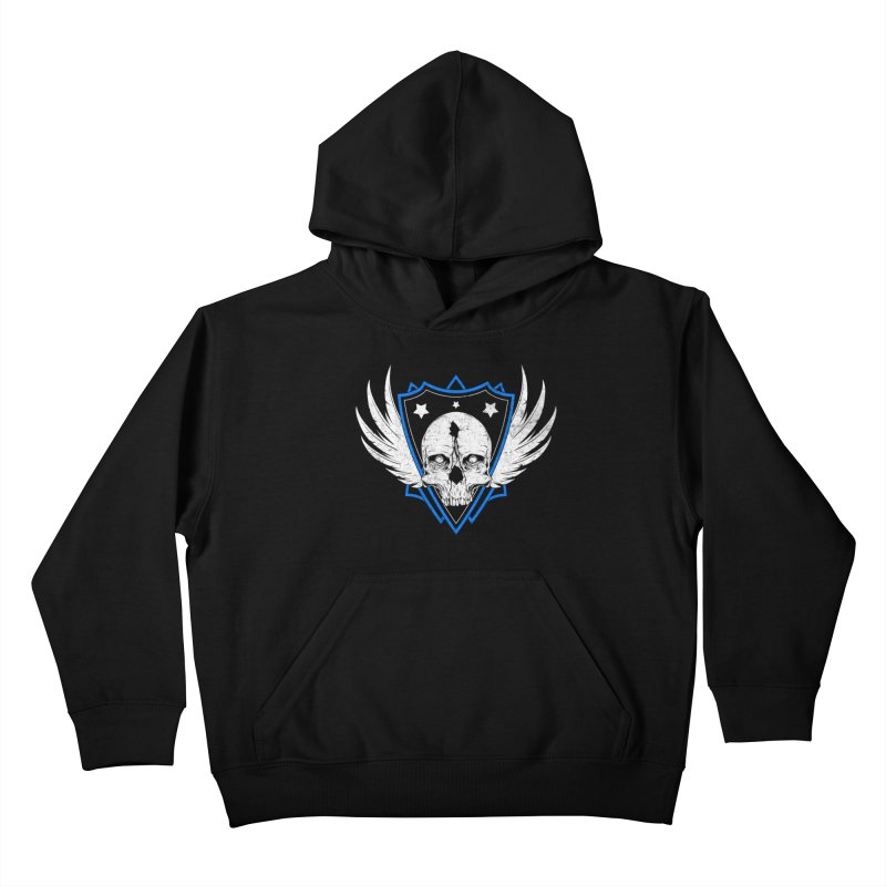 Shield Skull Kids Pullover Hoody by Oblivion Design's Artist Shop