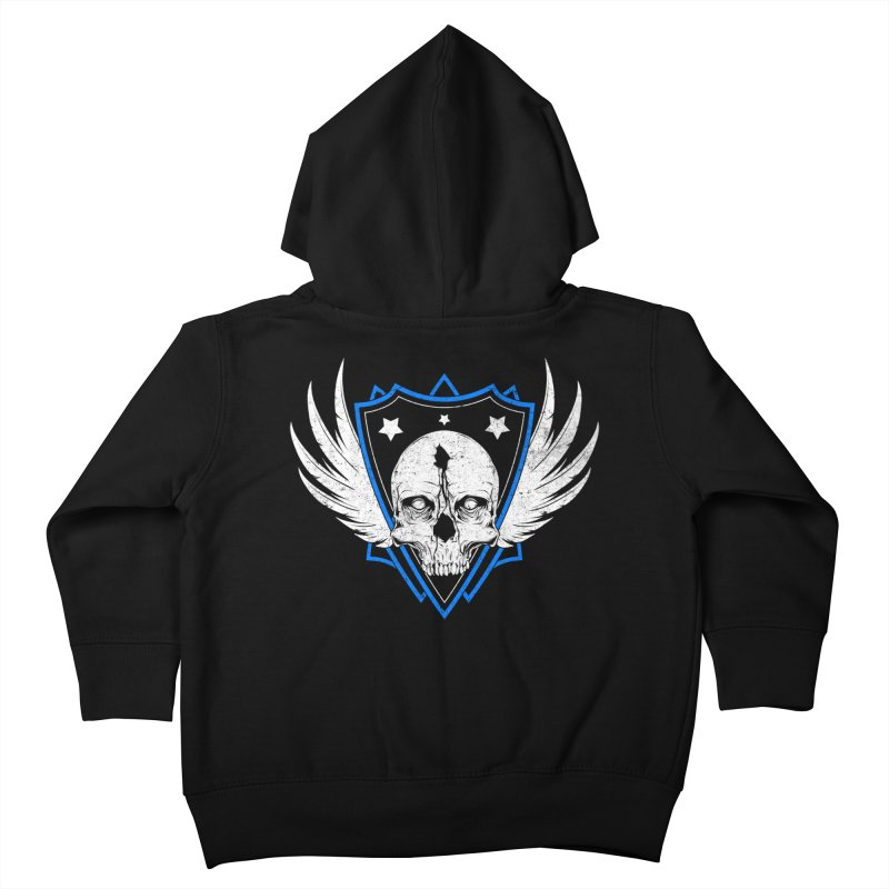 Shield Skull Kids Toddler Zip-Up Hoody by Oblivion Design's Artist Shop