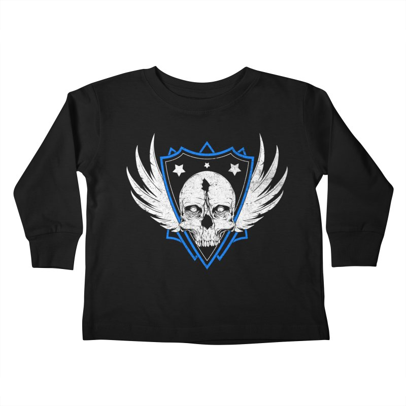 Shield Skull Kids Toddler Longsleeve T-Shirt by Oblivion Design's Artist Shop