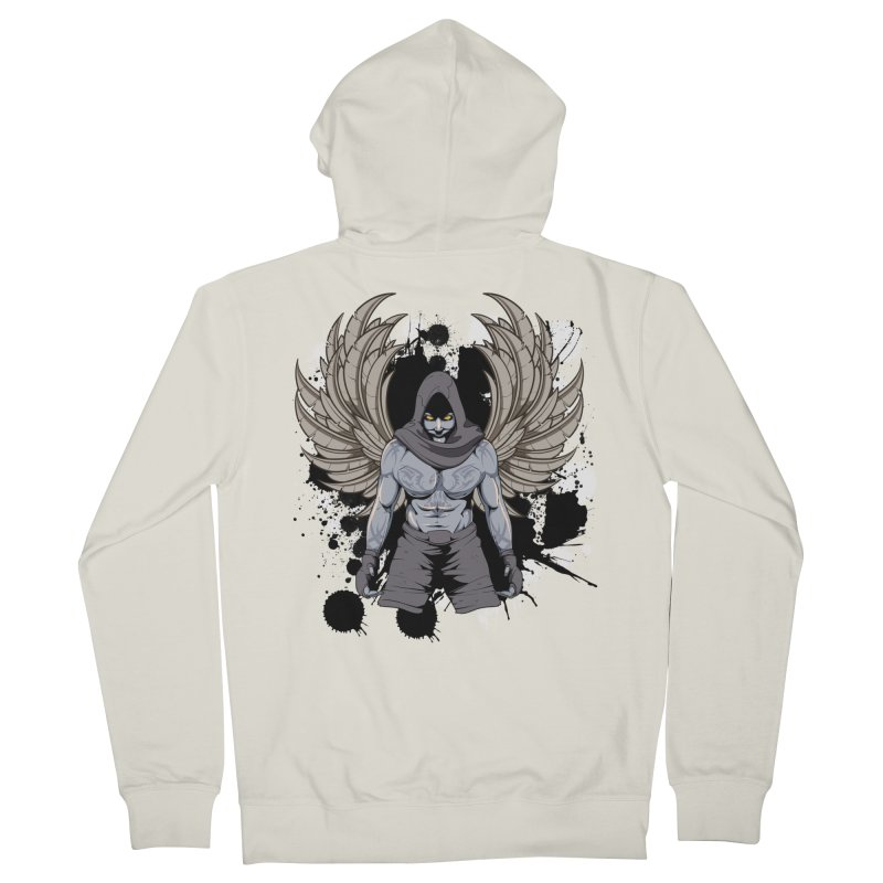 Fighter Men's Zip-Up Hoody by Oblivion Design's Artist Shop