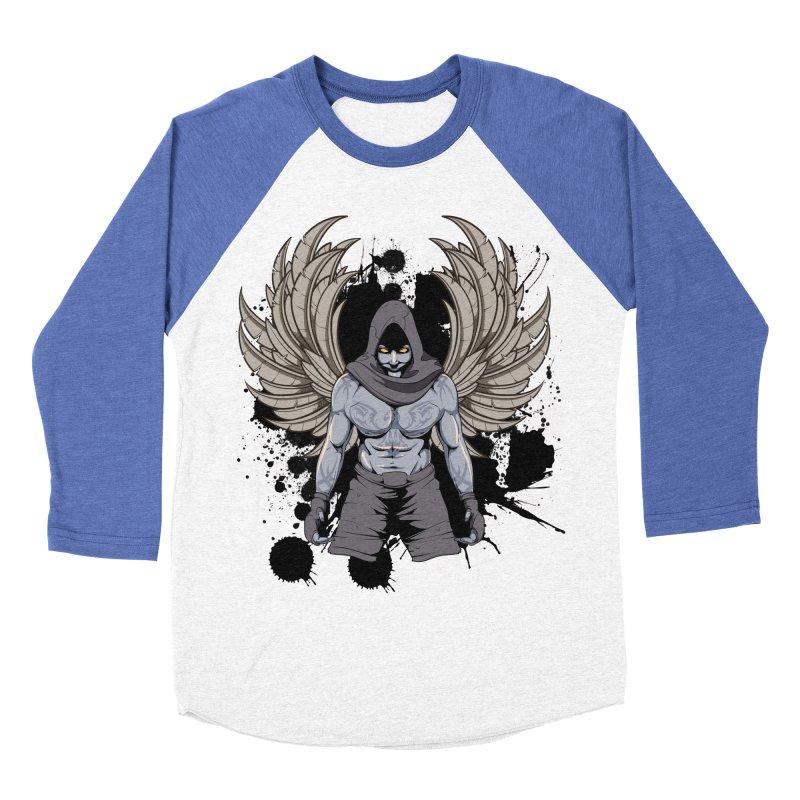 Fighter Men's Baseball Triblend T-Shirt by Oblivion Design's Artist Shop