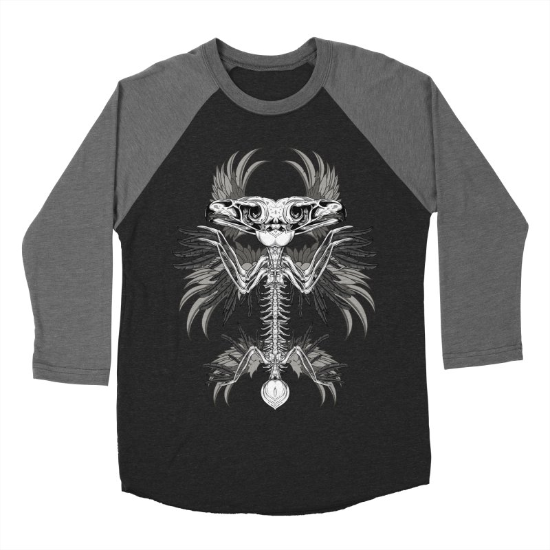 Skeleton Bird Men's Baseball Triblend Longsleeve T-Shirt by Oblivion Design's Artist Shop