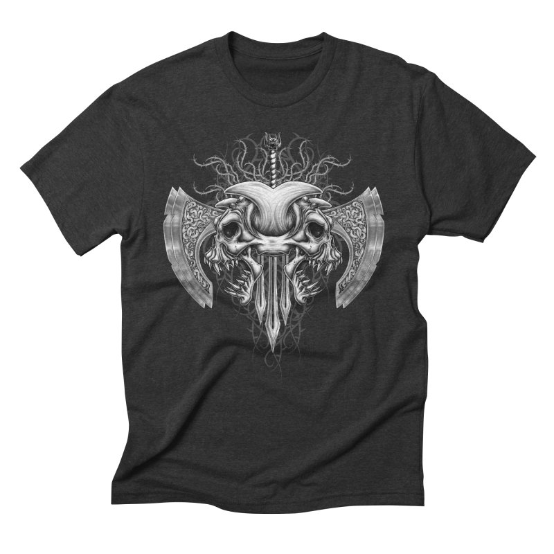 Demon Tribal Axe Men's Triblend T-Shirt by Oblivion Design's Artist Shop