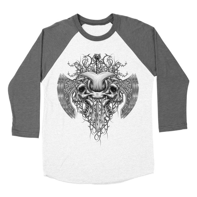 Demon Tribal Axe Men's Baseball Triblend T-Shirt by Oblivion Design's Artist Shop
