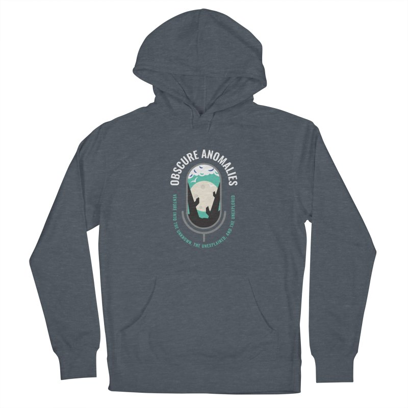 Obscure Anomalies Mic Logo Men's French Terry Pullover Hoody by obscureanomalies's Artist Shop